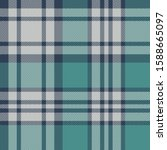 Teal Plaid Pattern Vector...
