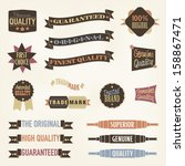 vintage labels and banners... | Shutterstock .eps vector #158867471