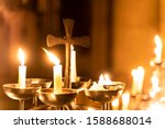 Church Candles Burn In The...