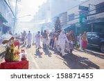 phuket   oct 10  devotees of a... | Shutterstock . vector #158871455