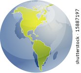 map of the americas  on a... | Shutterstock . vector #15887197