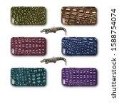 Multicolored Crocodile Leather...