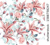 beautiful vector floral pattern ... | Shutterstock .eps vector #1588758247