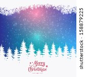 merry christmas colorful winter ... | Shutterstock .eps vector #158879225
