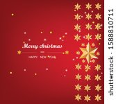 red christmas background ... | Shutterstock . vector #1588810711