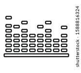 equalizer bars icon. outline... | Shutterstock .eps vector #1588816324