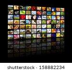 lcd tv panels. television... | Shutterstock . vector #158882234