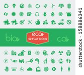 Ecology Flat Icon Set. Vector Illustration EPS 10. - stock vector