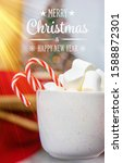 christmas cocoa with... | Shutterstock . vector #1588872301