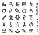 beauty icon set 36   editable... | Shutterstock .eps vector #1588888234