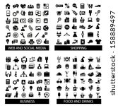 big set of quality icons.... | Shutterstock .eps vector #158889497