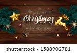 dark wooden poster illustration ... | Shutterstock .eps vector #1588902781