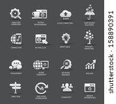 search engine optimization... | Shutterstock .eps vector #158890391