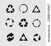 set of recycle icon symbol... | Shutterstock .eps vector #1588914067