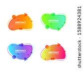 set of modern liquid abstract...   Shutterstock .eps vector #1588924381