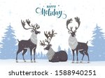 merry christmas and happy new... | Shutterstock .eps vector #1588940251