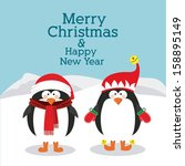merry christmas  design over... | Shutterstock .eps vector #158895149