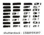 flat paint brush thin straight... | Shutterstock .eps vector #1588959397
