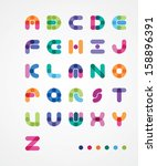 colorful abstract font | Shutterstock .eps vector #158896391