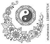circular mandala pattern for... | Shutterstock .eps vector #1588975714