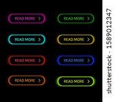 set of modern glowing multi... | Shutterstock .eps vector #1589012347