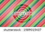 construction christmas badge...   Shutterstock .eps vector #1589015437