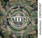 waiting camouflaged emblem.... | Shutterstock .eps vector #1589015587