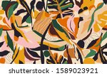 hand drawn abstract pattern.... | Shutterstock .eps vector #1589023921