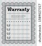 grey vintage warranty... | Shutterstock .eps vector #1589027317