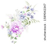computer drawn beautiful...   Shutterstock . vector #1589042347
