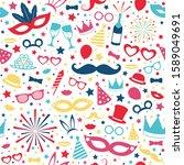concept of seamless pattern... | Shutterstock .eps vector #1589049691