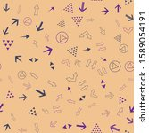 seamless vector pattern with... | Shutterstock .eps vector #1589054191