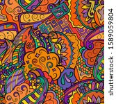 tracery seamless pattern.... | Shutterstock .eps vector #1589059804