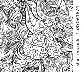 tracery seamless pattern.... | Shutterstock .eps vector #1589061874