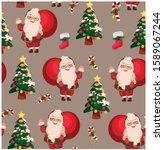 vector illustration  christmas... | Shutterstock .eps vector #1589067244