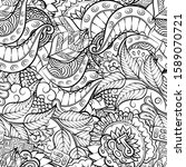 tracery seamless pattern.... | Shutterstock .eps vector #1589070721