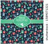 vector illustration  christmas... | Shutterstock .eps vector #1589071321