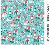 vector illustration  blue... | Shutterstock .eps vector #1589072314