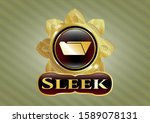 golden emblem with folder icon ... | Shutterstock .eps vector #1589078131