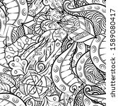 tracery seamless pattern.... | Shutterstock .eps vector #1589080417