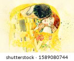 The Kiss. Illustration....