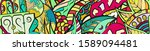 tracery seamless pattern.... | Shutterstock .eps vector #1589094481