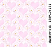 pink romantic floral seamless...   Shutterstock .eps vector #1589106181