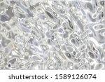 Metallic Silver Wavy Background....
