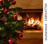 Fireplace Christmas Holiday....