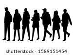 vector silhouettes of  men and... | Shutterstock .eps vector #1589151454