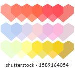 Overlapped Heart Shapes With...
