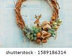 Christmas Wreath. Twigs  Spruc...