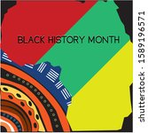 black history month on february ... | Shutterstock .eps vector #1589196571
