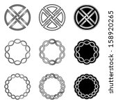celtic knot elements  models... | Shutterstock .eps vector #158920265